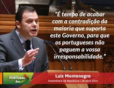 Luís Montenegro, Líder Parlamentar do Partido Social Democrata, no Debate Quinzenal na Assembleia da República. #PSD #acimadetudoportugal