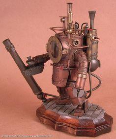 under sea, steampunk sculpture Robots Steampunk, Design Steampunk, Style Steampunk, Steampunk Gadgets, Steampunk Fashion, Gothic Steampunk, Steampunk Ship, Steampunk Armor, Diesel Punk