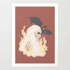 Daenerys/Game of Thrones Art Print by Gloria Chandler - $12.48