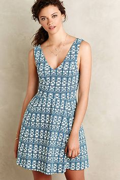 Textured Double-V Dress