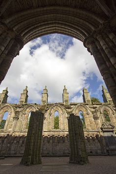 The nave of the Augustinian abbey of the Holyrood, founded in 1128 was constructed between 1195 and 1230.