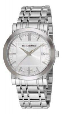 Relógio Burberry Men's BU1350 Heritage Silver Dial Bracelet Watch #Burberry#Relógio