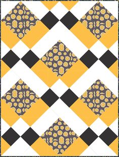 """The Bee's Knee's"" I Love Pattern Jam. I made this on Pattern Jam with the MacKenzie Clan quilt pattern."