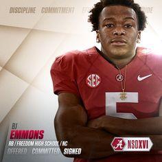 Alabama 2016 commit RB B.J. Emmons #BamaNSD2016  #Alabama #RollTide #BuiltByBama #Bama #BamaNation #CrimsonTide #RTR #Tide #RammerJammer