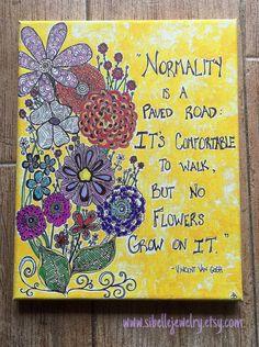 Flower art / Vincent Van Gogh quote / flower by SiBelleJewelry