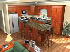 Cool kitchen photo of plan HPG-1751-1 from http://www.houseplangallery.com/index_files/house-plans-prod_detail.php?planid=HPG-1751-1