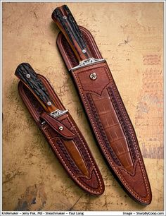 Beautiful knife and leather sheath