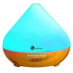 TaoTronics Essential Oil Diffuser 300ml Wood Grain Aroma Diffuser with Cool Mist and 7 Colors ( Aromatherapy Diffuser  Ultrasonic Aroma Humidifier Mist and Light Control Timer  Auto Shut-off )