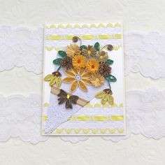 Card Paper Quilling Paper Quilled Birthday by EnchantedQuilling