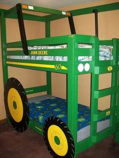 It's a bit 'square' but I know Gabriel would love the tractor bed...possibly would need to be in a farm themed room