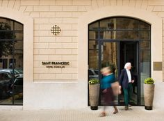 Logo and signage designed by Mucho for Spanish 5-star hotel Sant Francesc.