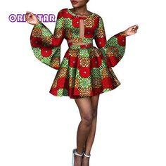 Hight Quarlity 2019 African Women skirt Set Dashiki Cotton Crop Top an – Owame African Prom Dresses, African Dresses For Women, African Attire, African Fashion Dresses, African Women, African Clothes, African Print Skirt, African Print Fashion, African Prints