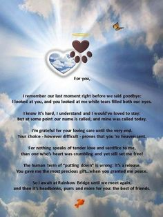 """I love this poem, but changed the last line, since my BFF was my dog, Bear. """"You and I will forever be the best of friends. Animal Quotes, Dog Quotes, Dog Sayings, Cat Loss Quotes, Chihuahua Quotes, Animal Poems, I Love Dogs, Puppy Love, Pet Poems"""