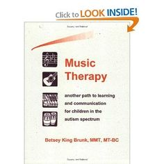 Music therapy is the use of music to address non-musical goals. More and more parents and professionals are finding that music can break down barriers for children with autism in areas such as cognition, communication, and socialization. While music therapists are experienced professionals who create unique interventions, many of the principles of music therapy can be implemented by other therapists, teachers, and parents - even by people who do not consider themselves musical!