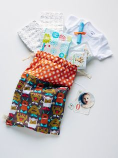 Emergency Diaper Bag Funny Monsters Orange and by WhoopsieKit