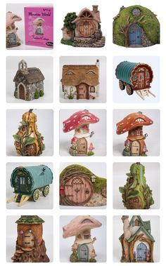Fairy garden items from Miniature World by Vivid Arts in the U. Fairy garden items from Miniature Fairy Garden Pots, Fairy Garden Houses, Fairy Pictures, Crafts With Pictures, Fairy Fountain, Clay Fairy House, Clay Fairies, Fantasy House, Fairytale Art