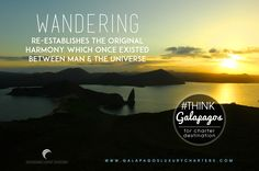 Wandering, re-establishing the original harmony which once existed between man and the universe.