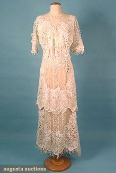 Edwardian White Lace Dress, Augusta Auctions, March/April 2005 Vintage Clothing & Textile Auction, Lot 679