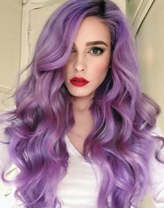 brunette purple ombre | Tumblr