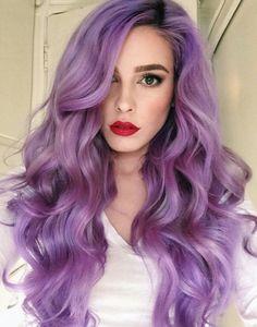 brunette purple ombre | Tumblr