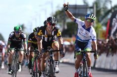 Caleb Ewan takes stage three, and the lead, in Langkawi