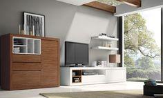 Propuesta de contrastes para crear ambientes modernos y elegantes. Amplia capacidad de almacenaje y complementos decorativos prácticos como ...