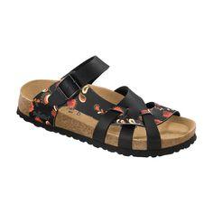 Birkenstock Papillio Pisa Folk Flower Black Sandals