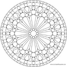 2 coloring pages based on rose windows. One is my own design, one is a version of the rose window at Notre Dame.
