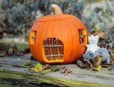 Letos jsme místo strašidla vydlabali myší domeček . Přejeme vám všem pohodový víkend ♥ Mon...