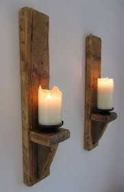 Image result for tall glass candle on planks
