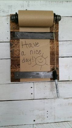 Kraft Paper Roll Wall Mounted Message Board Grocery List
