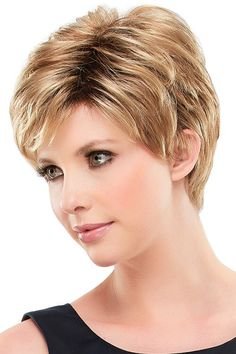 Kris Synthetic Wig by Jon Renau is a smart and stylish wig. This sophisticated pixie is a no-fuss favorite. Its lightweight open cap design is cool, comfortable and superbly easy to style. Medium Short Haircuts 2016, Short Curly Haircuts, Cool Short Hairstyles, Hairstyles For Round Faces, Fine Hairstyles, Ponytail Hairstyles, Hair Styles For Women Over 50, Short Hair Cuts For Women, Short Hair Styles