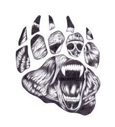 bear paws sketches tattoos - Google Search