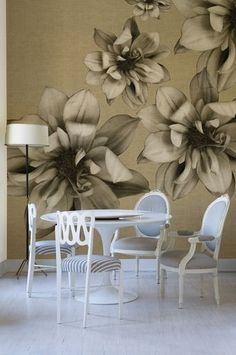 Papier peint motif floral / contemporain FLOWERS POETRY by Christian Benini Wall&Deco