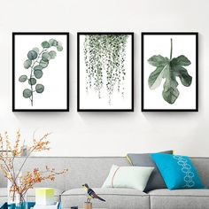 Cheap canvas art print poster, Buy Quality art print poster directly from China wall pictures Suppliers: Watercolor Tropical Plant leaves Canvas Art Print Poster , Nordic Green Plant leaf rural Wall Pictures for Home Decoration Framed Wall Art, Wall Art Decor, Canvas Art Prints, Canvas Wall Art, Plant Painting, Tropical Plants, Picture Wall, Printable Wall Art, Watercolor Paintings