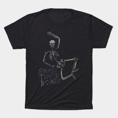 Shake those bones dark - Halloween - T-Shirt   TeePublic Shake, Bones, Halloween, Dark, Mens Tops, T Shirt, Color, Design, Fashion