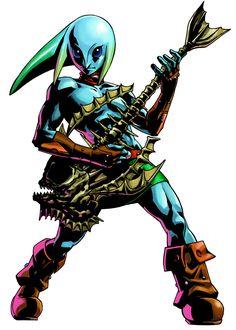 The Legend of Zelda: Majora's Mask 3D / Zora Link & Guitar of Waves