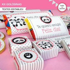 Pandita: kit etiquetas de golosinas