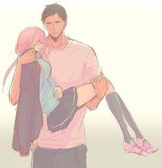 Momoi and Aomine