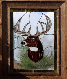 "stained glass deer | Deer Head Glass Art | Jak's Art Glass - ""GLASS WITH AN ATTITUDE"""