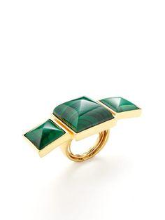 Malachite statement ring ... http://jewelrystash.blogspot.com/