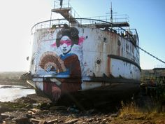 STREET ART UTOPIA » We declare the world as our canvasBy Fin DAC - At The Black Duke in North Wales, United Kingdom » STREET ART UTOPIA