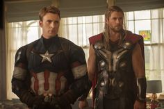 Pin for Later: All the Official Pictures From Avengers: Age of Ultron  Cap and Thor are looking quite sexy. Sorry, they just are.