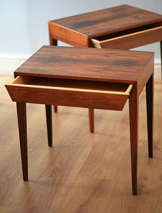 Severin Hansen rosewood side tables for Haslev Danish Furniture, Retro Furniture, Mid Century Modern Furniture, Table Furniture, Furniture Design, Paint Furniture, Furniture Makeover, Chair Design, Home And Deco