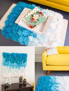 3 in 1: Pom Pom Rug,Wall Hanging and Table Cover
