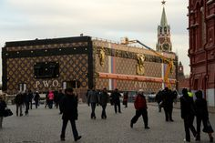 Today marks the beginning of the six week #exhibition of the 30-foot tall #LouisVuitton #museum in #Moscow's #RedSquare.   In honor of the 120th #anniversary of the #GUM #department store location, this massive #suitcase houses a collection of 25 classic Louis Vuitton items and is a way to thank #Russia for a century and a half of support! #F1S #travel