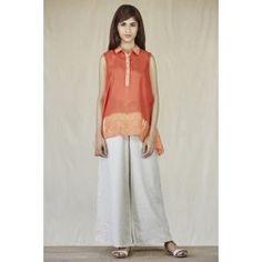 Mirage Orange Sleeveless Top