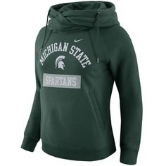 Michigan State Spartans Nike Women's Tailgate Funnel Neck Hoodie - Green