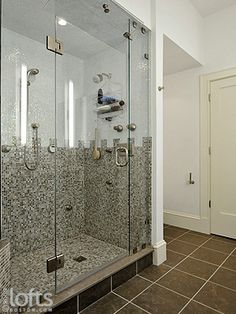 shower stall for log mansion