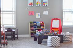 Playroom design and decor ideas, Part 5 of Home Tour http://fantabulosity.com